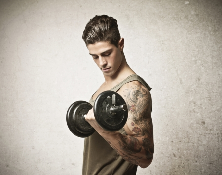 handsome muscular guy with tattoo Stock Photo - 17230463