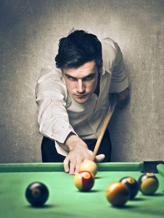 man playing pool Stock Photo - 17478010