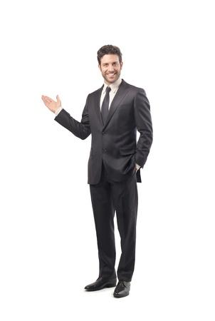hombre de negocios: hombre de negocios en un fondo blanco