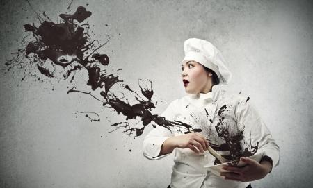 chef cocinando: chef de chocolate para cocinar