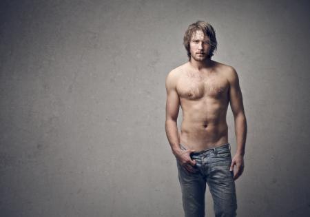 homme nu: beau jeune homme Banque d'images