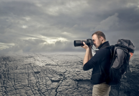 photographer takes a picture with professional camera Stock Photo - 17765957