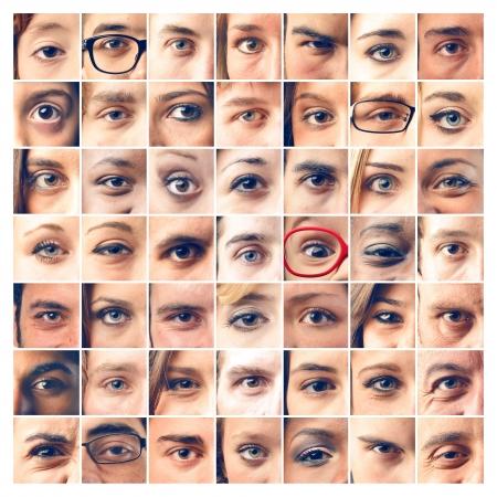 collage caras: los ojos del mosaico