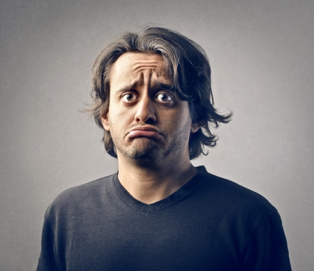 portrait of sad man photo
