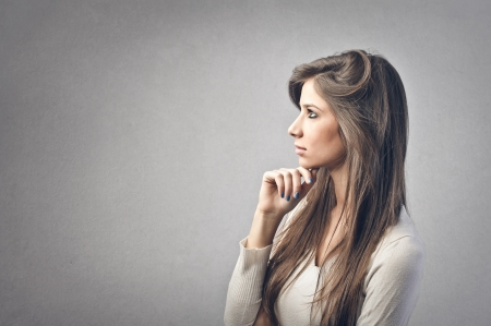 woman profile: profile of young woman