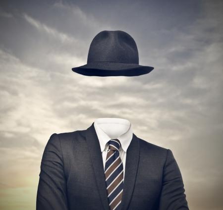 d'affaires invisible avec chapeau Banque d'images