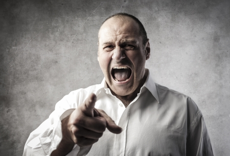 angry face: angry man shouting