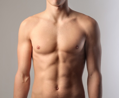 boy body: muscular young man Stock Photo