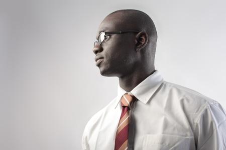 portrait of business black man photo