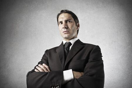 disapprove: portrait of serious businessman