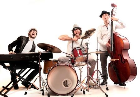 m�sico: grupo de m�sicos que tocan instrumentos Foto de archivo