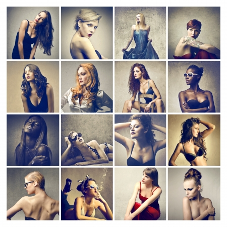 sexy breast: portraits of different beautiful women