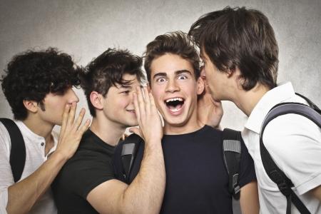 whisper: four boys chatting
