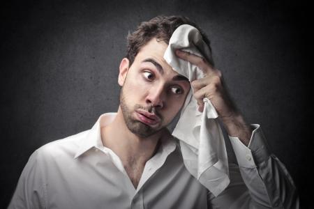 Angst: Stress Mann Lizenzfreie Bilder
