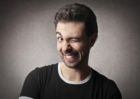 blink: man blinking Stock Photo