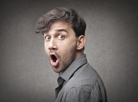 shouting man  photo