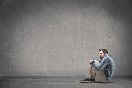 smutny mężczyzna: smutny cz?owiek