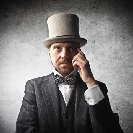 diplomatic: man wearing vintage cloths Stock Photo