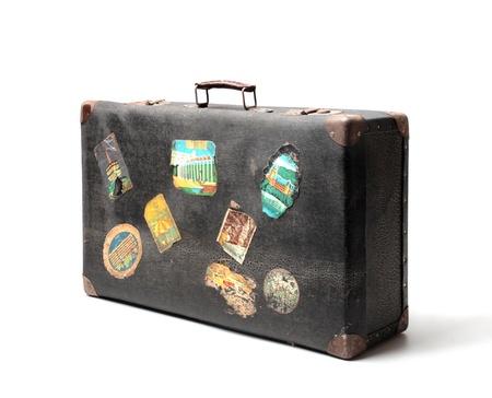 vintage: veterán bőrönd Stock fotó