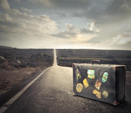 verlaten koffer Stockfoto
