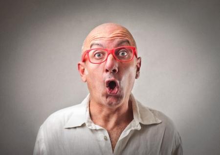stupor: hombre sorprendido Foto de archivo