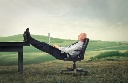 businessman relaxing photo