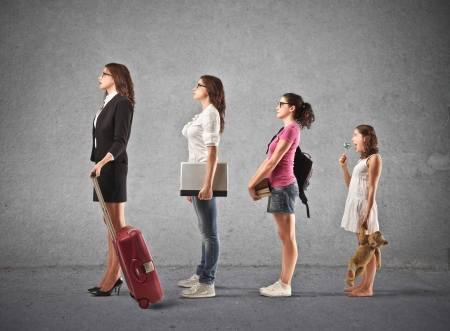 student travel: growth of a woman  Stock Photo