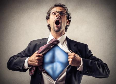 사업: 슈퍼 영웅 사업가 스톡 콘텐츠