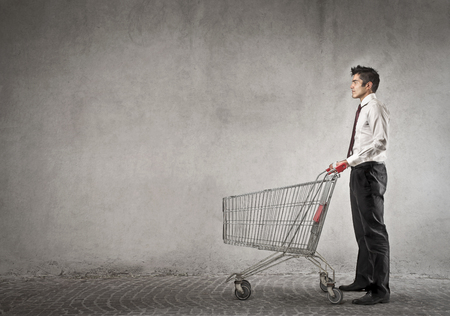 businessman with a cart photo