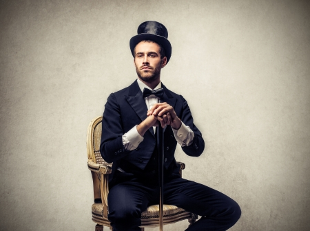 ruch: rich man sitting on a chair
