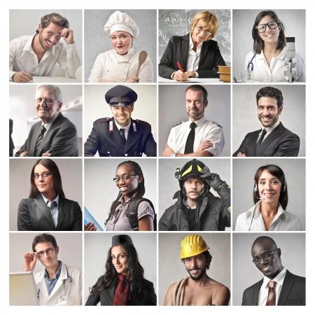 pessoas: diferentes trabalhadores