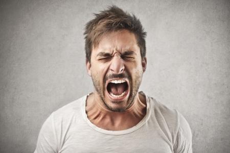 Hombre gritando Foto de archivo - 22756997
