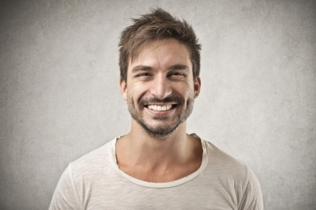 happy face: smiling man  Stock Photo