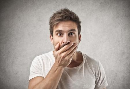astonishment: hombre muy sorprendido Foto de archivo
