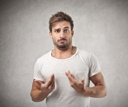 gesture: amazed astonished man