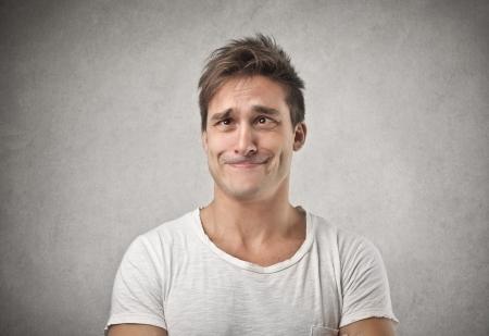 Le visage de l'homme drôle