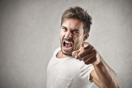 angry: screaming man Stock Photo
