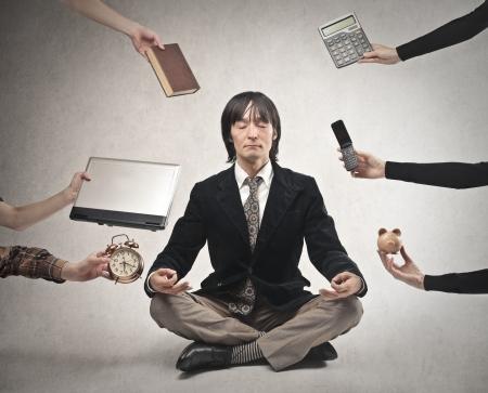 Geschäftsmann meditieren