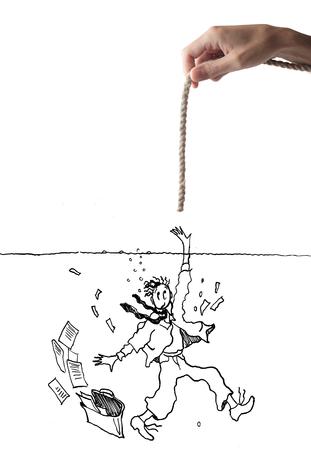 ahogarse: ahorro de cuerda
