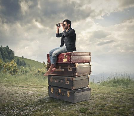 binoculars view: culture sight Stock Photo