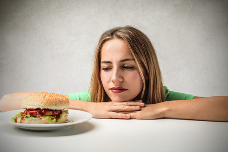 unhappy people: hungry girl