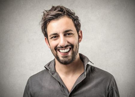 uomo felice: uomo contenuti Archivio Fotografico