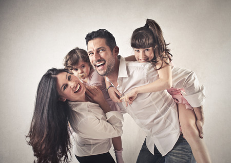 familia: familia feliz