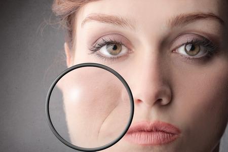 arrugas: imperfecciones Foto de archivo