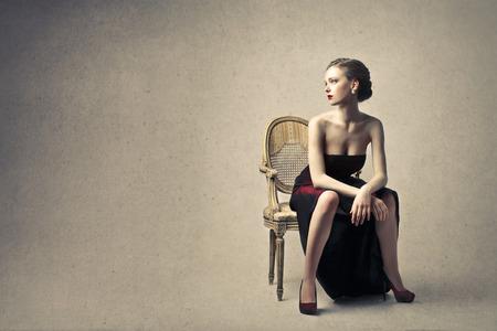 mujer elegante: mujer elegante