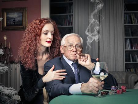 donna ricca: il boss Archivio Fotografico