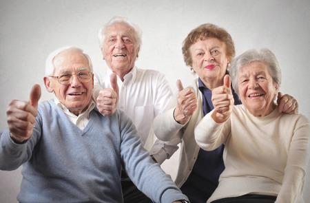 ancianos felices: buenas oldies Foto de archivo