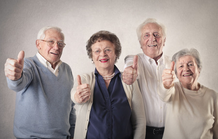 grandpa and grandma: happy oldies Stock Photo