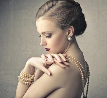 donna ricca: piacevole bellezza Archivio Fotografico