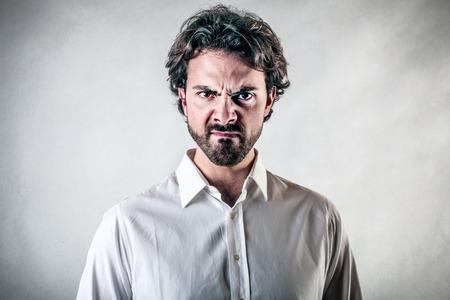 enraged: discontent man